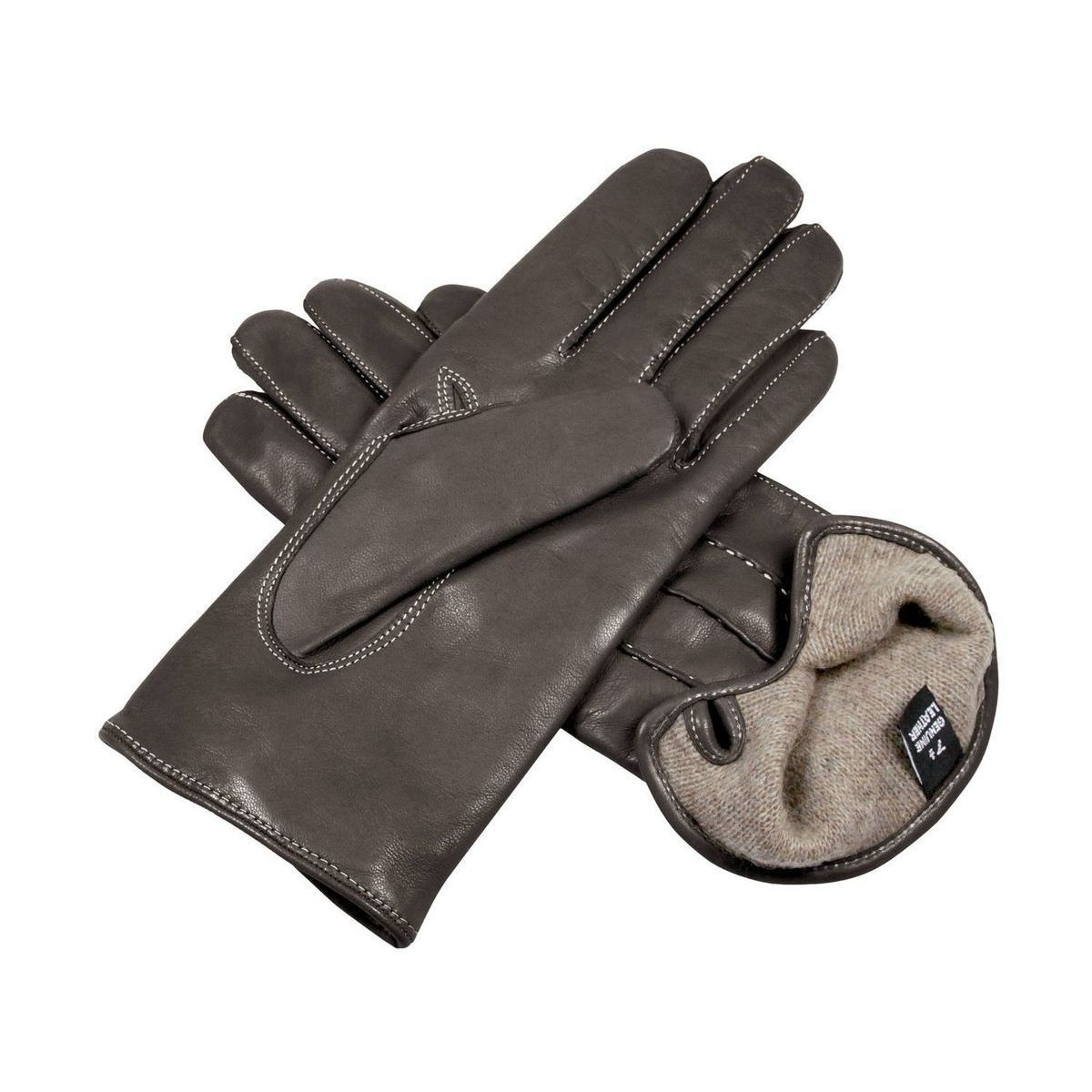 Gloves with button for women