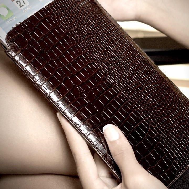 Protective Sleeve for iPad Air - Royal Blue - Granulated Leather
