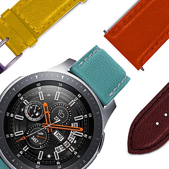Bracelet Samsung Galaxy Watch - 22mm - Dark Green - Smooth Leather - 22mm - Dark Green - Smooth Leather